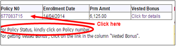 LIC Policy Status Check via Online