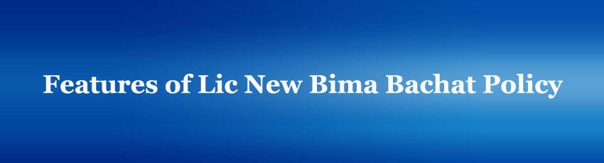 Lic New Bima Bachat Policy