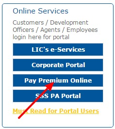 LIC Online Services
