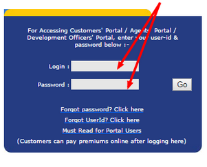 LIC online payment customer login
