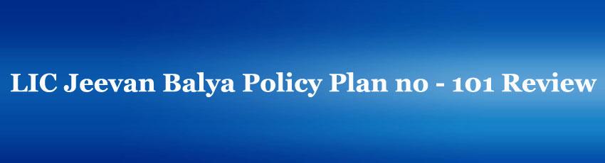 LIC Jeevan Balya Policy Plan