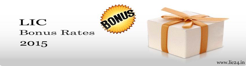 lic bonus rates 2015 image