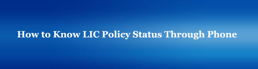 LIC Policy Status Through Online