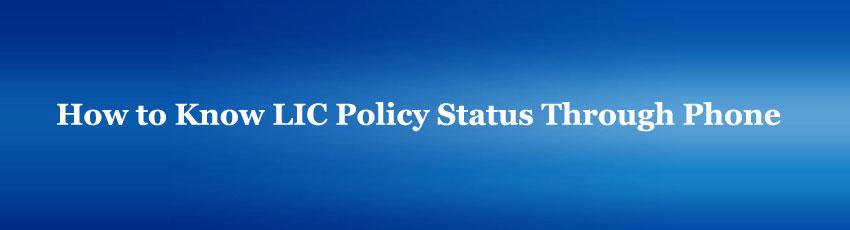 LIC Policy Status Through Online