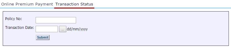 Lic online transaction status